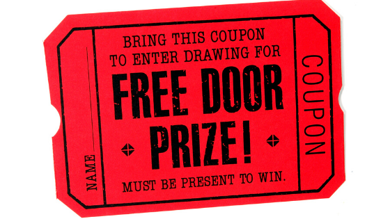 Door prize ticket