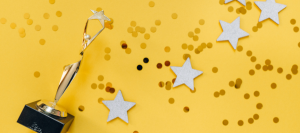 Image of trophy and stars
