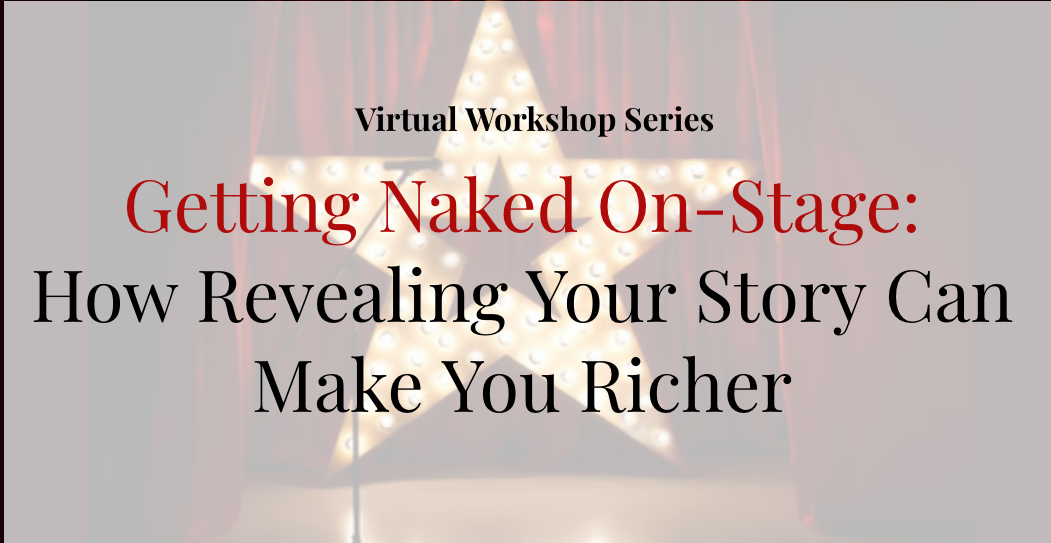 Image of banner for getting naked on stage